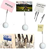 Golf Ball Shaped Table Number Holder Name Place