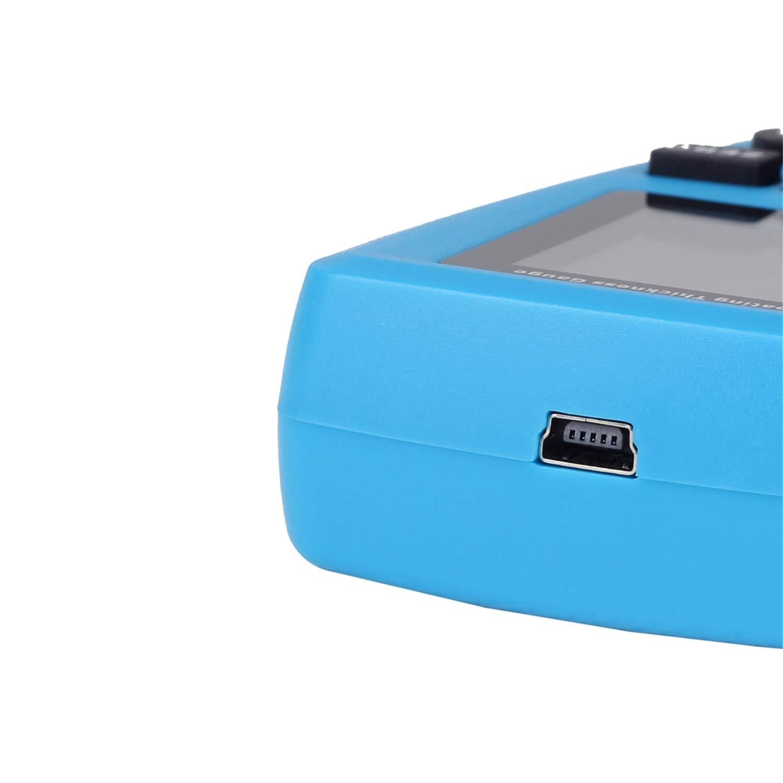 Bside Digitaler Farbbeschichtungsmessgerät Mit Eingebauter Auto F N Sonde Für Auto Automobilindustrie Laborindustrie Gewerbe Industrie Wissenschaft