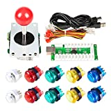 Arcade Buttons EG STARTS 1 Player DIY Kit Joystick 5V LED Arcade Button for Arcade Stick PC Games Mame Raspberry pi