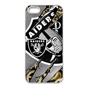 STYLE-UM@ Durable Soft TPU Case for iphone 4/4s with Oakland Raiders Design (White or Black)