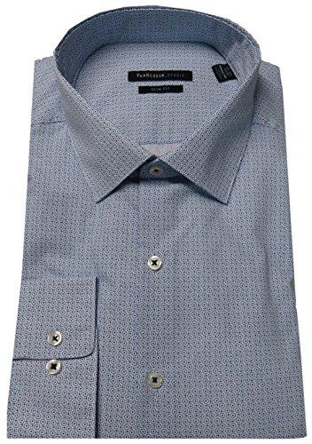 Van Heusen Men's Studio Slim Fit Shirt, Size 17-17 1/2-34/35, Blue