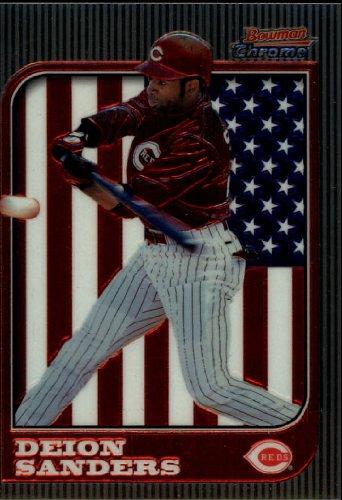 1997 Bowman Chrome Baseball Card #51 Deion Sanders