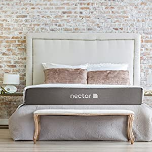 Nectar Mattress + 2 Free Pillows – Gel Memory Foam – CertiPUR-US Certified – 180 Night Home Trial – Forever Warranty