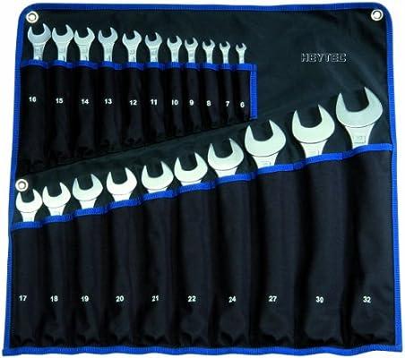 Heytec Heyco 50810729480 - Juego de llaves combinadas (21 piezas, con funda organizadora enrollable): Amazon.es: Bricolaje y herramientas