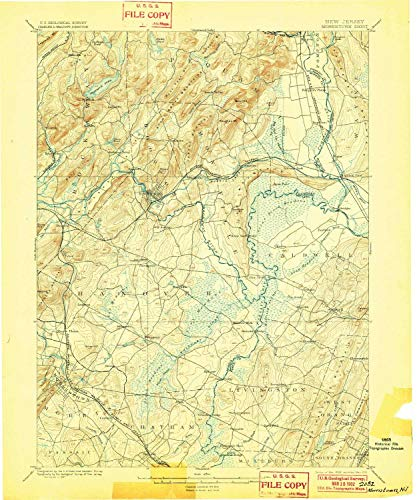 YellowMaps Morristown NJ topo map, 1:62500 Scale, 15 for sale  Delivered anywhere in USA