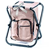 One Savvy Girl Ultralight Backpack Cooler Chair - Compact Lightweight and Portable Folding