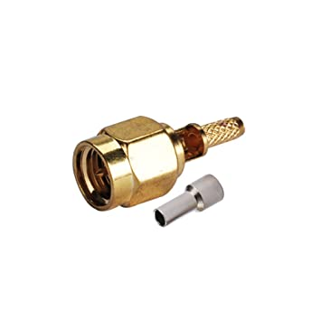 PC-Case 5pcs aleación de cobre de cable coaxial RF Cable eléctrico Terminal Conector SMA Plug Crimp para RG174 lrg316 MR100 RG178: Amazon.es: Electrónica
