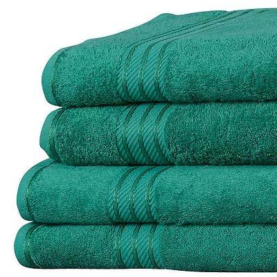 500 g//m/² vert fonc/é Linens Limited Lot de 4 serviettes dinvit/é SUPREME en coton /égyptien