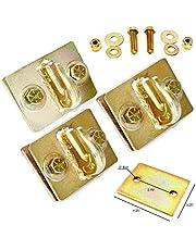 (Pacote com 3) Suporte de gancho com parafuso de 1,5 cm com placa de suporte – Ferragens completas incluídas