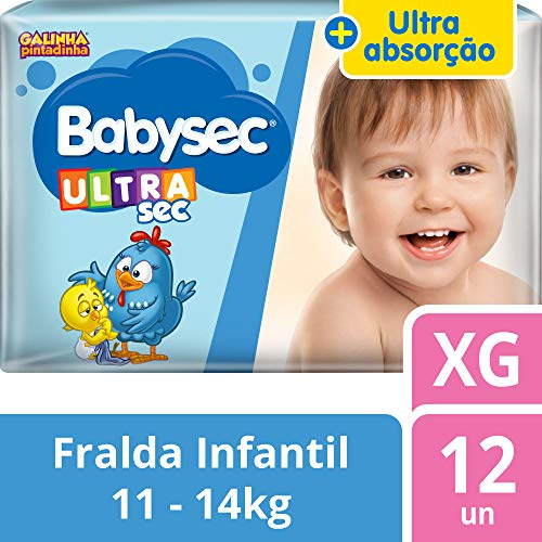 Fralda Babysec Galinha Pintadinha Ultrasec Xg 12 Unids, Babysec, XG