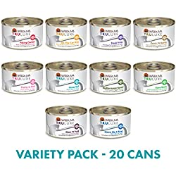 Weruva TruLuxe Grain-Free Wet Cat Food Variety Pack Box - All 10 Flavors - 3 Ounces Each (20 Total Cans - 2 of Each Flavor)