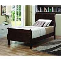 Coaster Home Furnishings Traditional Twin Bed, Cappuccino