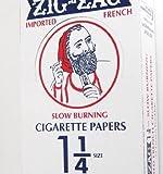 Zig Zag 1 1/4'' 24ct Rolling Papers Orange Box - 33 leaflets per pack - 24 packs per box