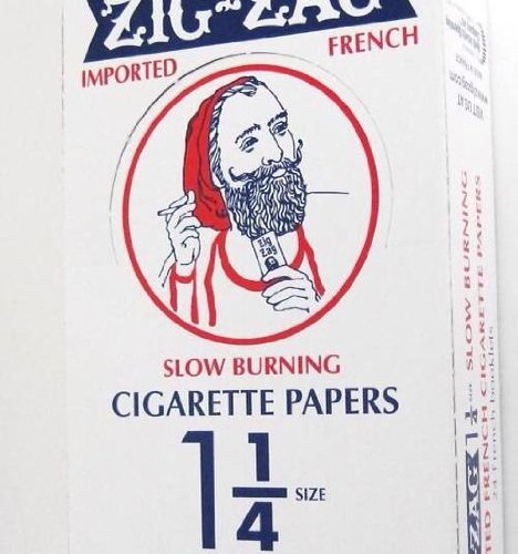 Zig Zag 1 1/4'' 24ct Rolling Papers Orange Box - 33 leaflets per pack - 24 packs per box by Zig Zag