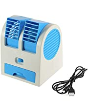 Mini Cooling Fan USB Battery operated portable air conditioner cooler,BLUE color
