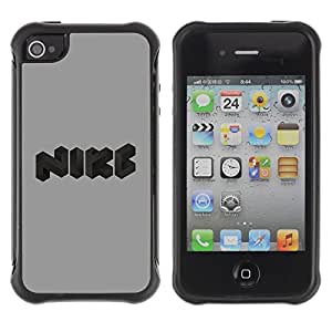 "Hypernova Defender Series TPU protection Cas Case Coque pour Apple iPhone 4 / iPhone 4S [Logotipo divertido""]"