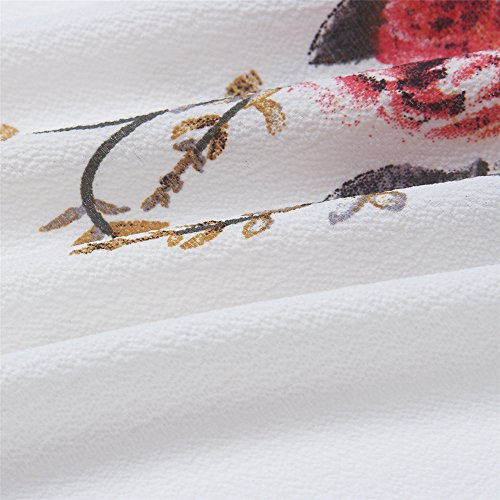 4 Robe Party Femmes Elgante Plge Crmonie de Longues Sexy de de Blanc de Robe soire Impression Soie Mousseline Robe Fleurs 6pFPH