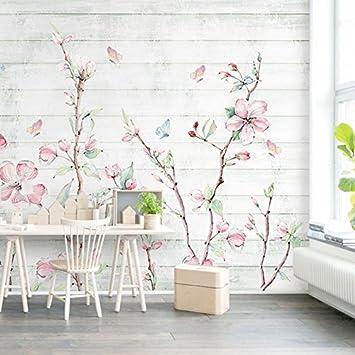 HUANGYAHUI Wandbilder Tapete Wohnzimmer Wand Hintergrund Wallpaper  Wallpaper Wallpaper Aquarell Blume