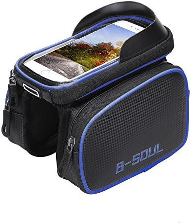 B-SOUL Bicycle Front Beam Nylon Package Waterproof Mountain Bike Saddle Bag #HE