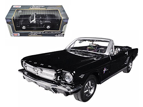 1964-1/2 Ford Mustang Convertible Black No.1 50th Anniversary 1/24 Diecast Car Model by Motormax 73212 1964 1/2 Mustang Convertible