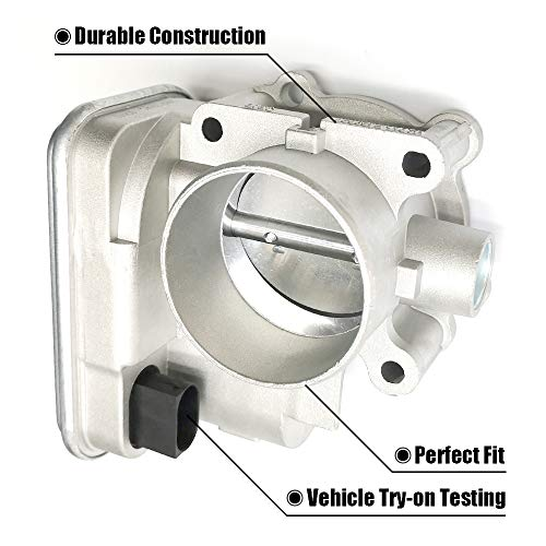 FEXON 4891735AC Electronic Throttle Body Control Assembly with IAC TPS for 08-2014 Dodge Avenger 07-2012 Caliber 2007-2017 Jeep Patriot Compass 2011-14 Chrysler 200 07-2010 Sebring 4891735AD 977-025