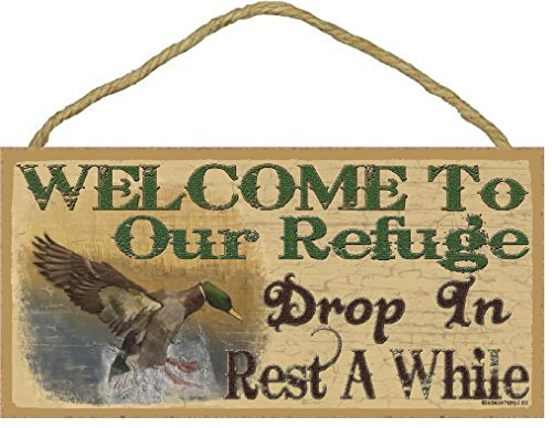 Blackwater Trading Welcome to Our Refuge Mallard Duck Rustic Lodge Cabin Decor 5