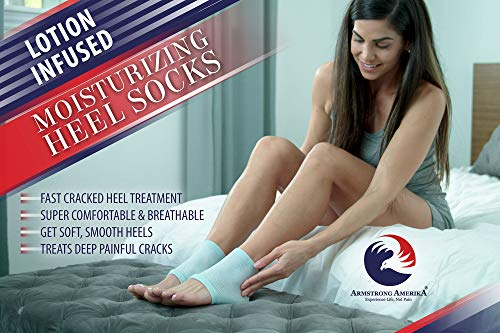 Moisturizing Socks for Cracked Heels - Aloe Socks to Treat Dry Feet Fast, Pain Relief for Rough Skin with Foot...