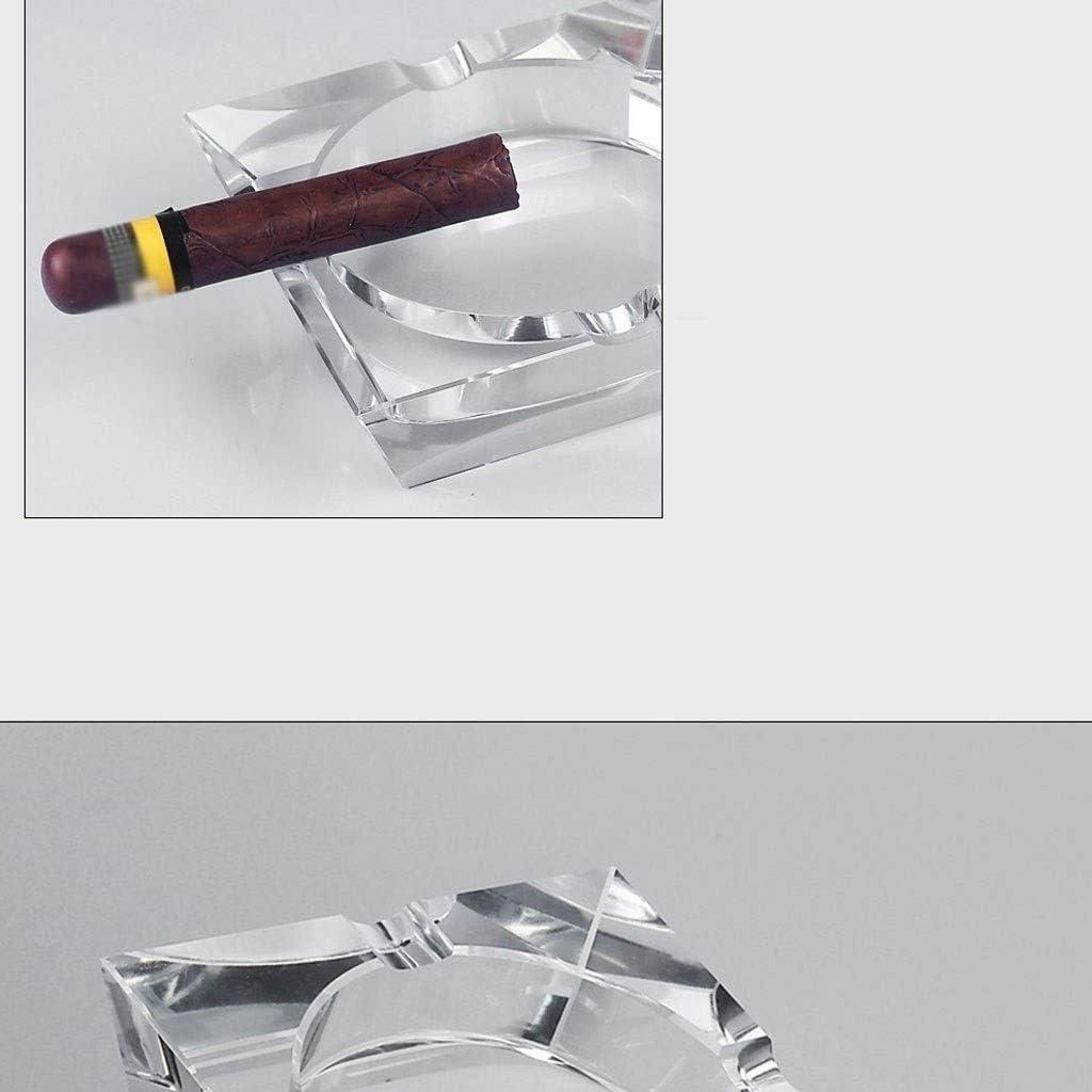 Kristallglas Aschenbecher Durchsichtig Quadratische Form Aschenbecher Zigarre Rauchzubeh/ör Haushaltsb/üro KTV Raucherbedarf Aschenbecher