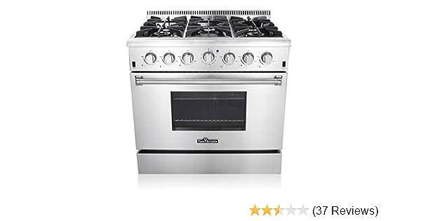 Amazoncom Thor Kitchen HRGU ProStyle Burner Stainless - Abt gas ranges