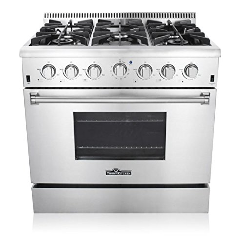 Thor Kitchen Hrg3618u 36 Pro Style 6 Burner Stainless Steel Gas Range