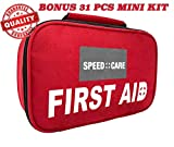 2-in-1 All-Purpose Small First Aid Kit 116 Pieces + Bonus Compact 31 PCs Mini First Aid Kit for Emergency, Home, Work, Outdoor, Camping, Car, School, Office, Sports, Travel, Hiking & Survival