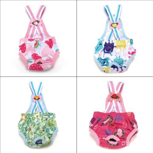 Pure Cotton Strape Pet Dog Sanitary Panties Diapers - Random Color Size 16 ()