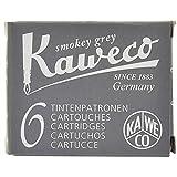 Kaweco Fountain Pen Ink Cartridges short, Smokey Grey (Grey), Pack of 6