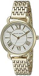 Anne Klein Women's AK/1876MPGB Gold-Tone Bracelet Watch