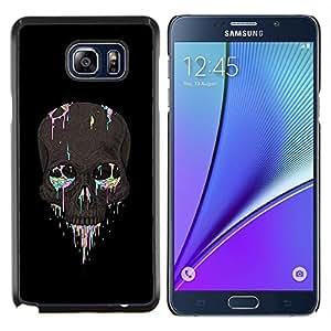 """Be-Star Único Patrón Plástico Duro Fundas Cover Cubre Hard Case Cover Para Samsung Galaxy Note5 / N920 ( Cráneo del arco iris de la pintura del artista motorista de la roca"""" )"""