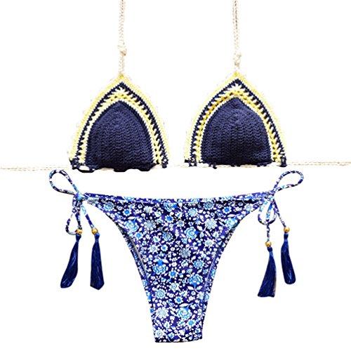 WanYang Mujeres Elásticos De La Cintura De La Falda Bikinis Set Para Mujer Playa Traje De Baño #-5