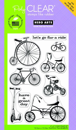 Hero Arts PolyClear Stamps, Joy Ride