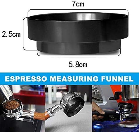 Keepbest Espresso Doseertrechter Aluminium Koffie Doseerring Vervanging Fit Voor 58mm Portafilters Amazon Nl