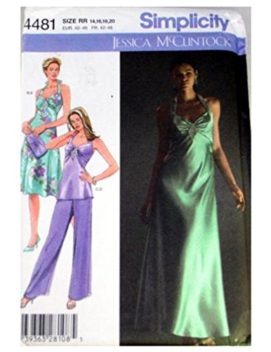 Jessica Pant Suit - Simplicity 4481 sewing pattern makes Jessica McClintock prom and party dresses and pantsuit