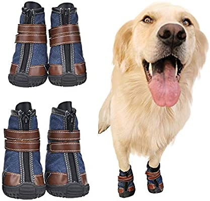 wholesale latest fashion sale uk FLAdorepet Large Dog Shoes Rugged Anti-Slip Sole Dog Paw Protector for Hot  Pavement Waterproof Dog Snow Shoes Pet Rain Boots with Straps Inside -Stay  ...