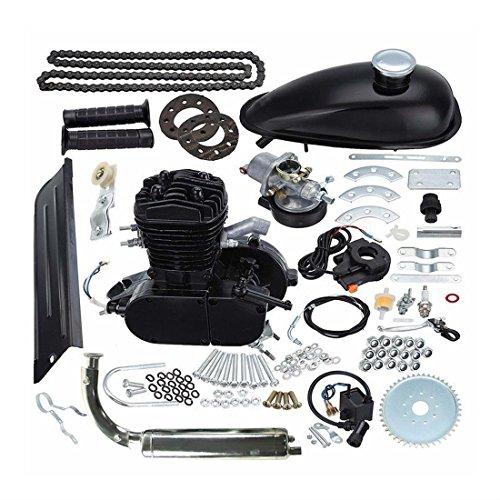 80cc Bike 2 Stroke Gas Engine Motor Kit DIY Motorized Bicycle Black What's - Fenders Bicycle Diy