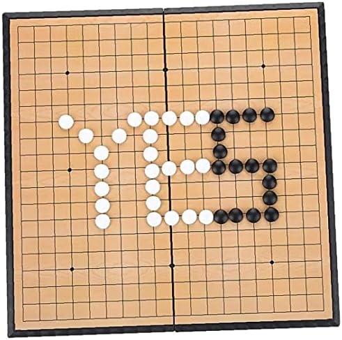 Magnetische Go Game Board Go Game Set Magnetic Opvouwbare Chess Board Folding Hout Weiqi Board Leerrijke Puzzel Spel Voor Kinderen Volwassen