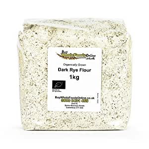 Amazon.com: Organic Rye Flour Dark 1kg by Buy Whole Foods