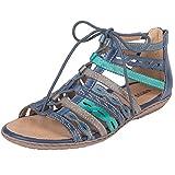 Earth Tidal Women's Sandal 6 B(M) US Sapphire-Multi
