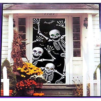 Halloween Skeleton Decoration Door Cover (30