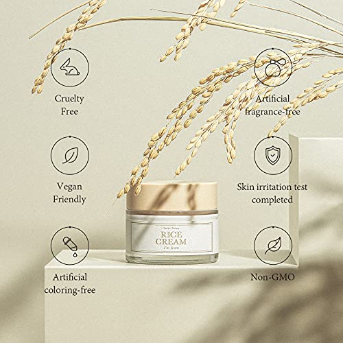 [I'm From] Rice Cream, 41% rice bran essence with ceramide   improves moisture skin barrier