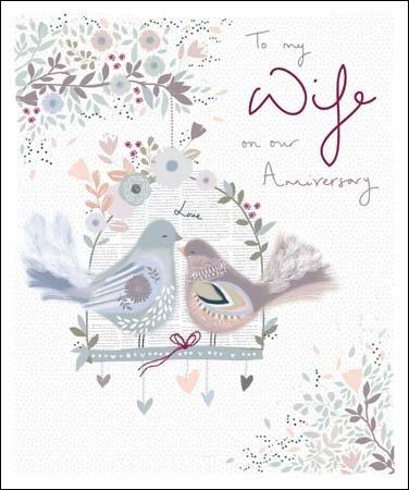 Wdm0358 Biglietto Di Auguri Per Anniversario Di Matrimonio Moglie