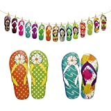 e7419b90524acb ODN Summer Hawaii Party Flip Flops Party Wall Hanging Home Decor ...