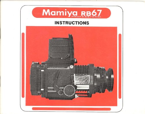 Mamiya RB67 Professional Original Instruction Manual Rb67 Cameras