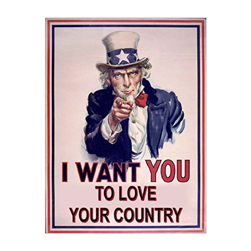 - Wholesale lots - Packaged Decals for Resale - UNCLE SAM LOVE YOUR COUNTRY - Made in USA